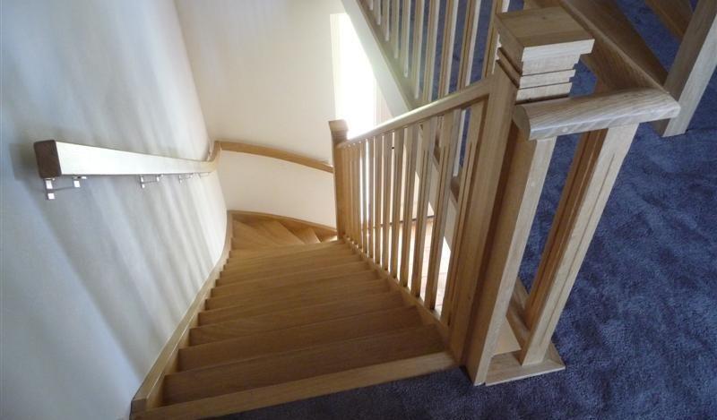 Alles in één lijn van trap tot balustrade