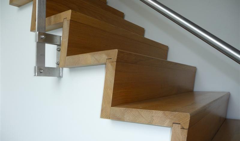 Mooie verbindingen tussen de traptreden.