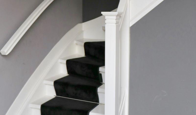 Veilig maar wel in lijn met de rest van het trappenhuis